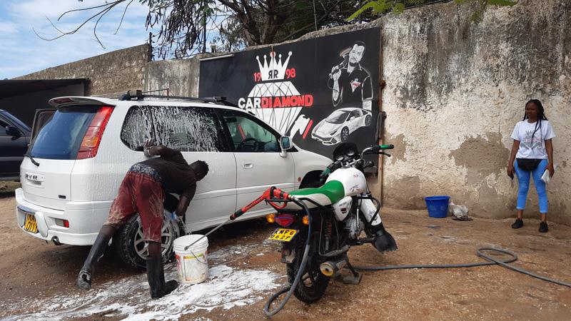 Charity Waschstation Afrika